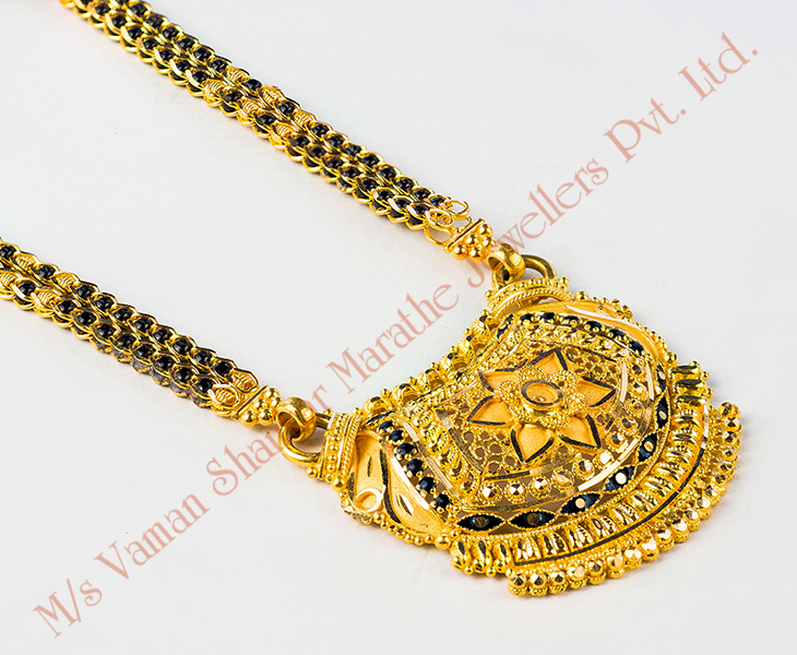 Gold Small Mangalsutra Designs With Price Gold