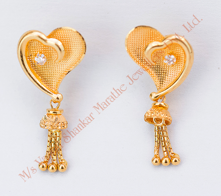 gold earrings designs for daily use with price 59 images